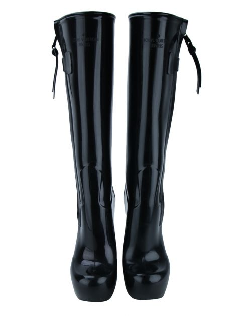 Bota Louis Vuitton Fetish Rain Boots Preta