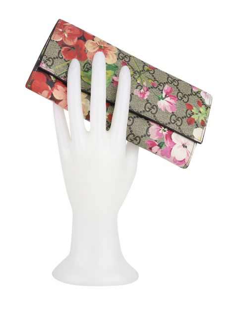 Carteira Gucci GG Blooms Continental Guccissima