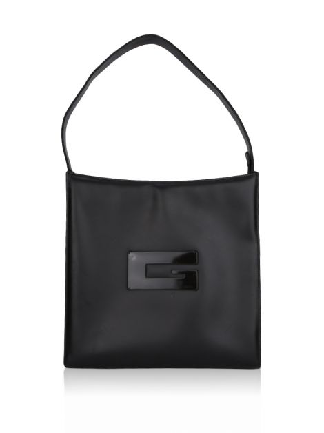 Bolsa Gucci Glossy Leather Hobo Bag Café