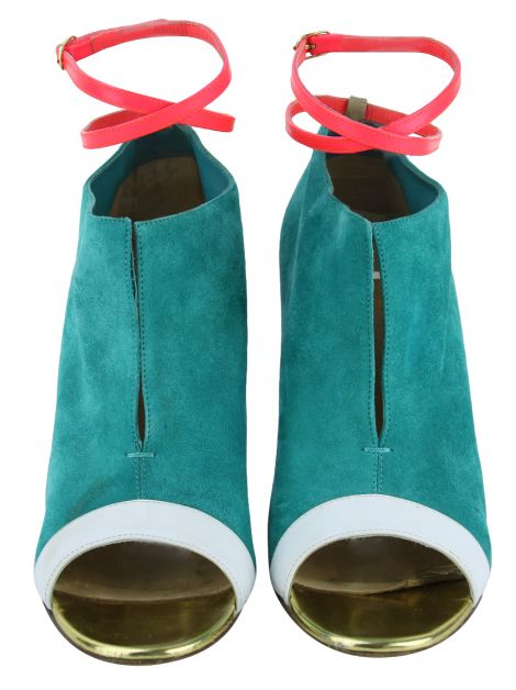 Open Boot Christian Louboutin Camurça Green Diptic