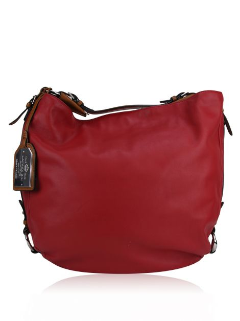 Bolsa Ralph Lauren Harbridge Large Hobo Vermelha