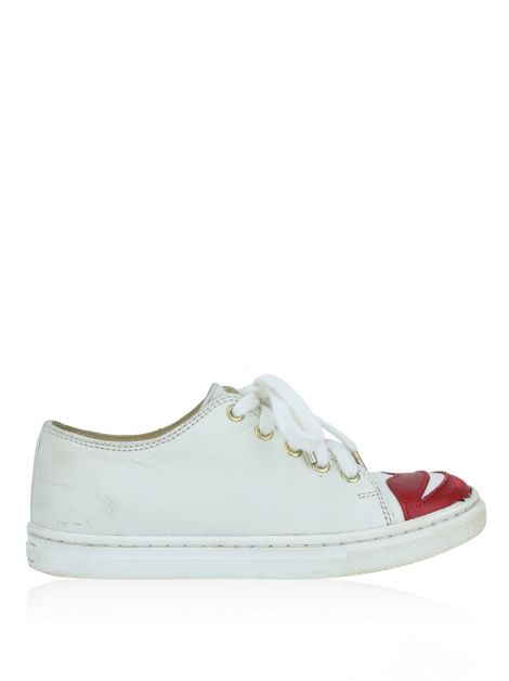 Tênis Charlotte Olympia Incy Kiss Me Off-White Infantil