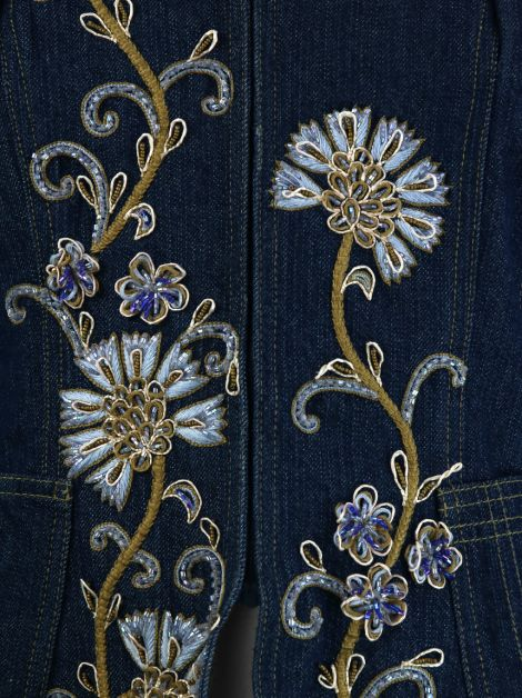 Jaqueta Christian Dior Boutique Jeans Bordada