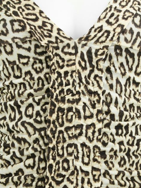 Vestido Just Cavalli Decote V Animal Print