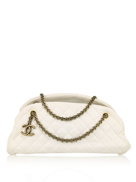 Bolsa Chanel Just Mademoiselle Bowling Creme