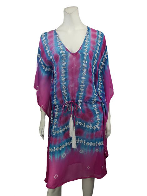 Kaftan Taj by Sabrina Chippa Bordado Bicolor