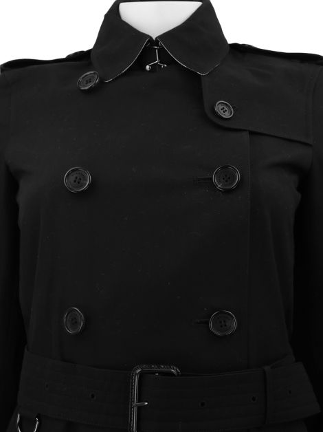 Trench Coat Burberry Kensington Medium Preto