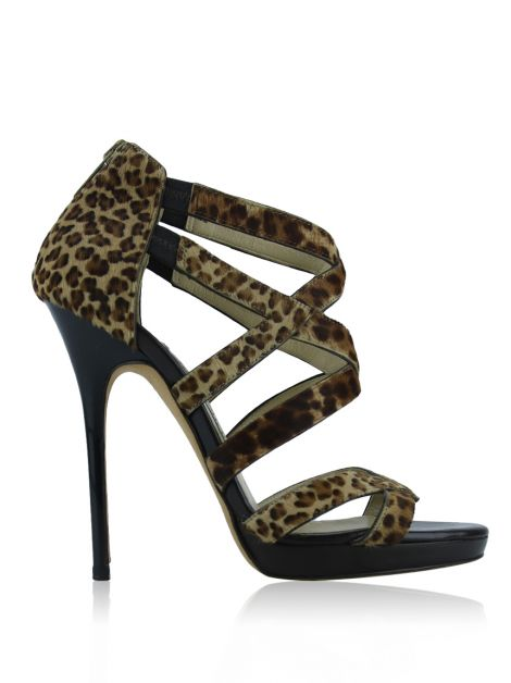 Sandália Jimmy Choo Lewellop Animal Print