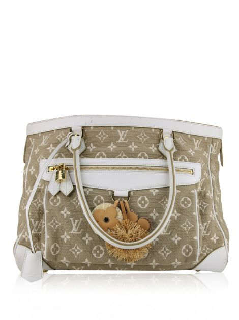 Bolsa Louis Vuitton White Monogram Sabbia Cabas GM
