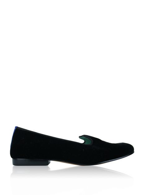 Loafer Blue Bird Veludo Preto
