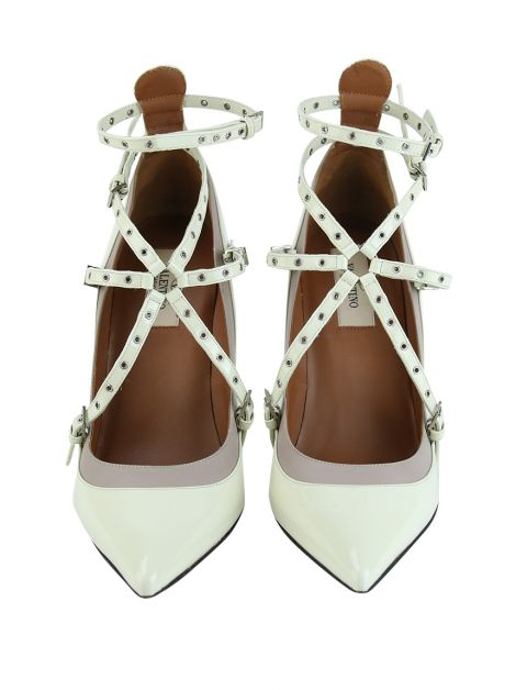 Sapato Valentino Love Latch Off-White
