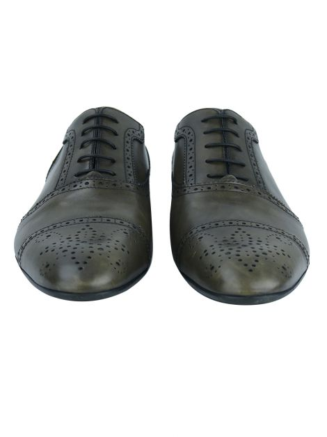 Sapato Louis Vuitton Loyalty Richelieu Oliva Masculino
