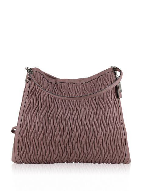 Bolsa Coach Madison Gathered Twist Large Rosé
