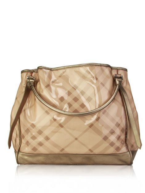 Bolsa Burberry Checkers Rosa