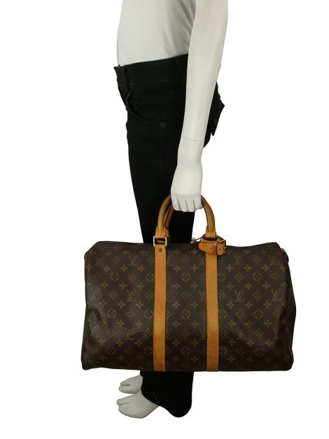 Mala Louis Vuitton Keepall 45 Canvas