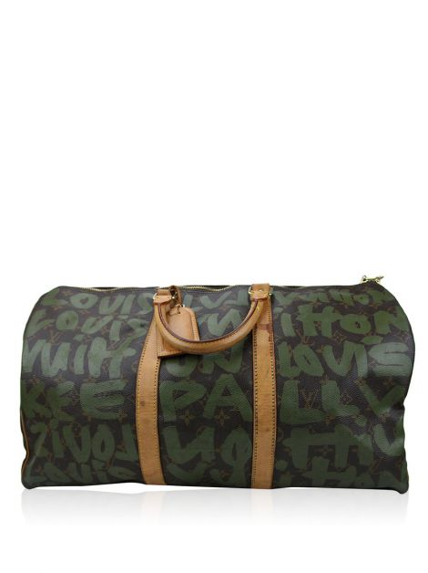 Mala Louis Vuitton Keepall Couro Estampada