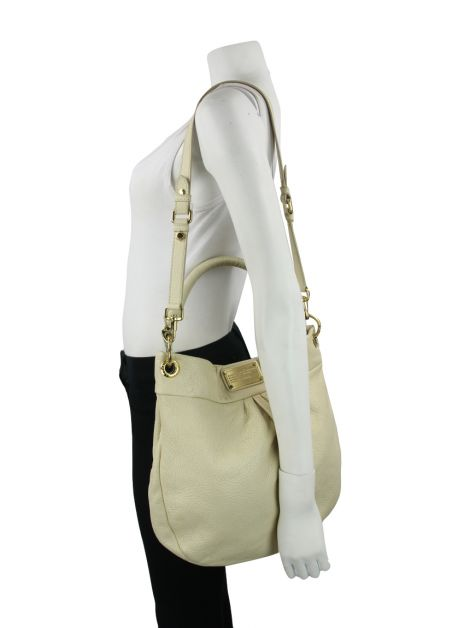 Bolsa Marc by Marc Jacobs Classic Q Hillier Hobo Off White