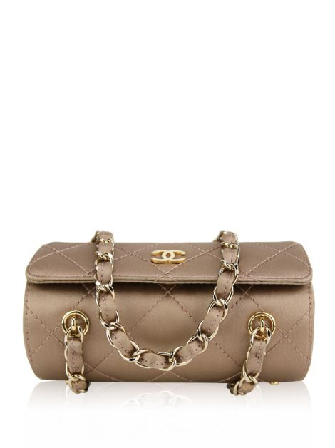 Bolsa Chanel Mini Satin Barrel Cetim