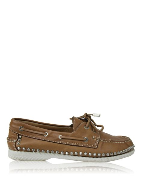 Mocassim Christian Louboutin Spikes Caramelo Masculino