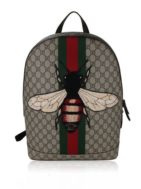 Mochila Gucci Animalier Bee GG Canvas