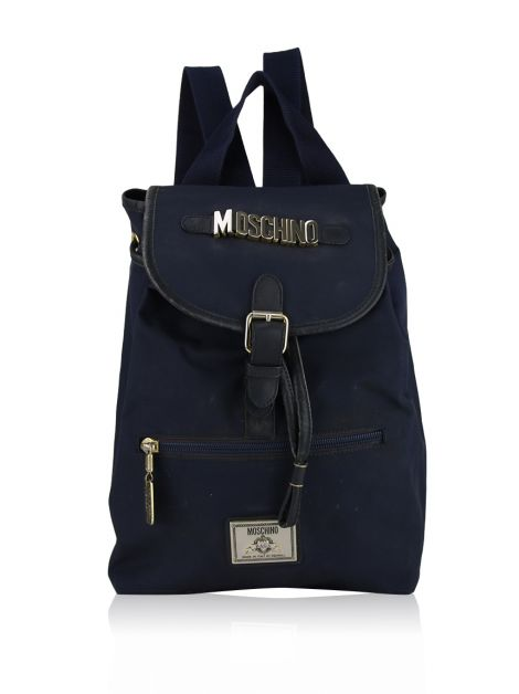 Mochila Moschino Gold Monogram Nylon