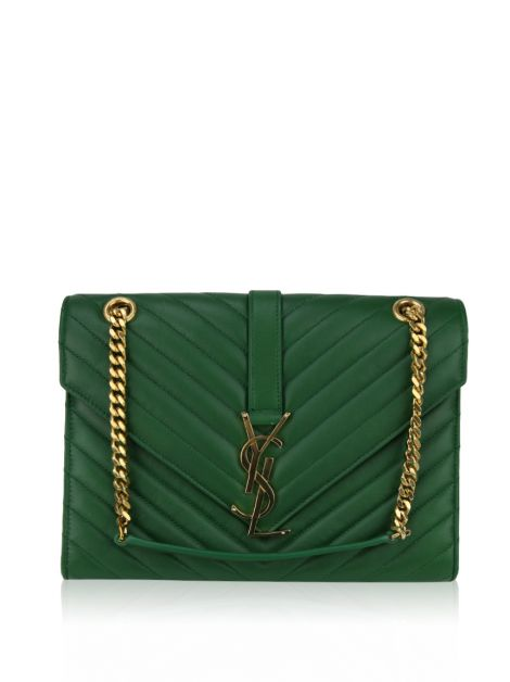 Bolsa Yves Saint Laurent Monogram Envelope Verde