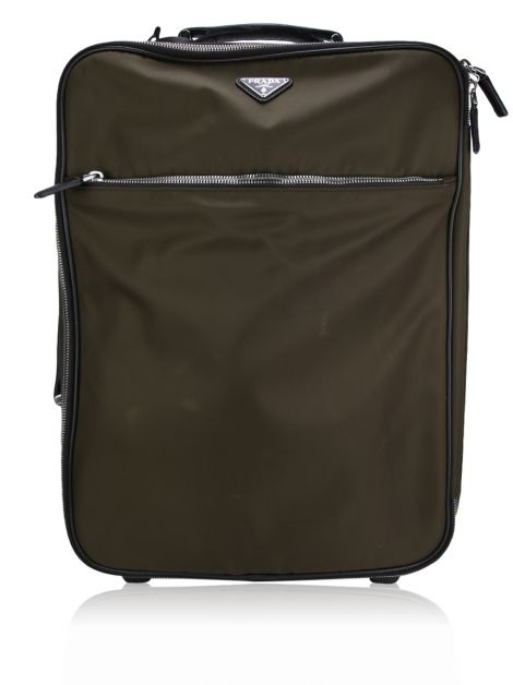 Mala de Rodas Prada Nylon Carry-on Suitcase Marrom