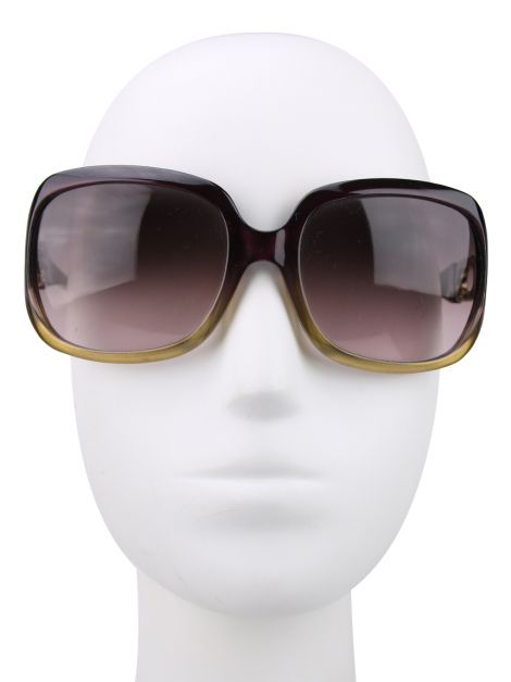 Óculos Jimmy Choo Acetato Roxo Marge/S Gold