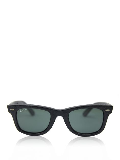 Óculos Ray-Ban Wayfarer Leather Preto RB2140QM