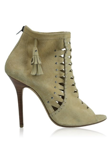 Open Boot Jimmy Choo Camurça Bege