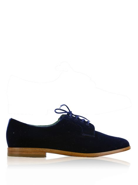 Oxford Blue Bird Veludo Azul