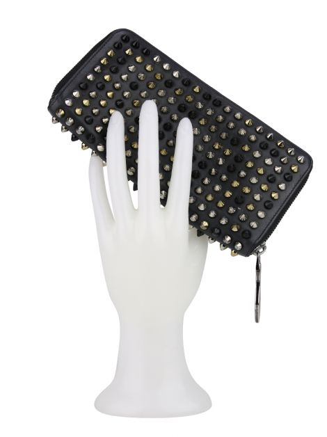 Carteira Christian Louboutin Panettone Zip-Around Wallet Preta