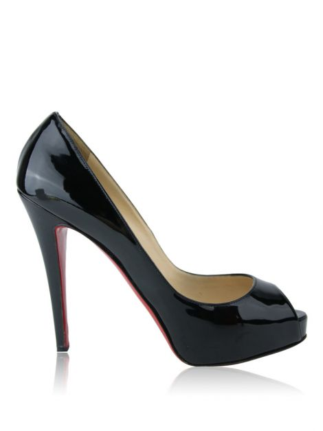 Peep Toe Christian Louboutin Very Prive 12 Preto