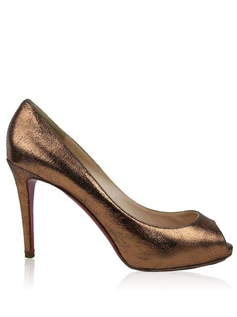 Peep Toe Christian Louboutin Very Prive Cobre