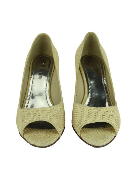 Peep Toe Mixed Palha