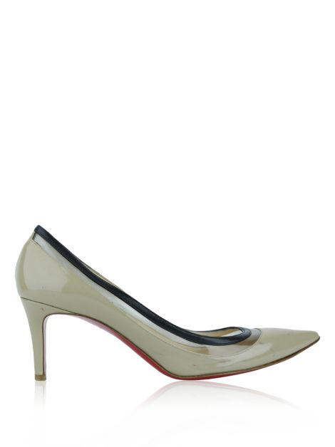Sapato Christian Louboutin Pigalle Follies Bege