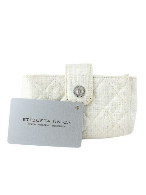 Porta Moedas Chanel Tweed Off-White