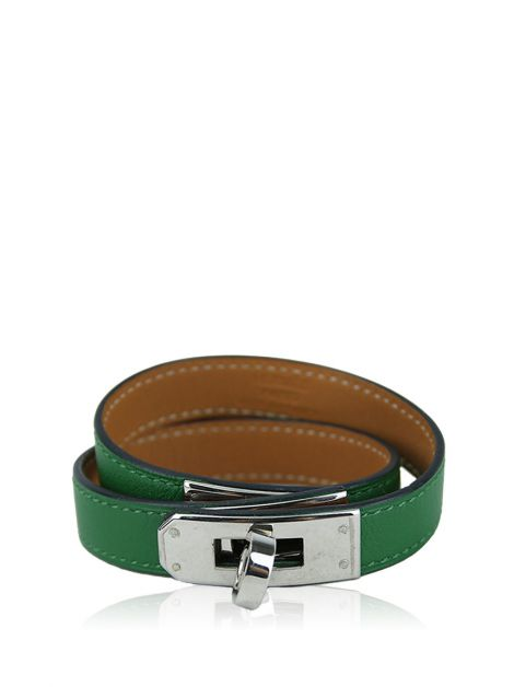 Pulseira Hermès Kelly Double Tour Verde