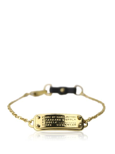 Pulseira Marc by Marc Jacobs Tag Dourada