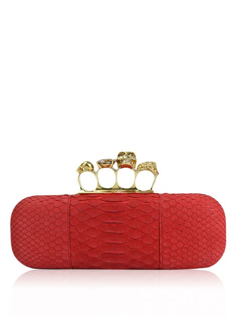 Clutch Alexander McQueen Python Knuckle Box Clutch