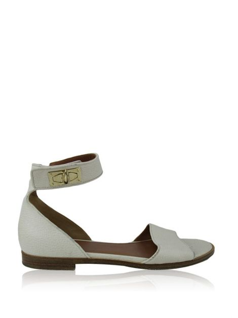 Flat Givenchy Couro Off-White