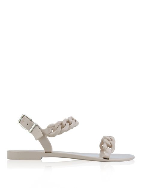 Rasteira Givenchy Jelly Chain Flat Sandals Nude