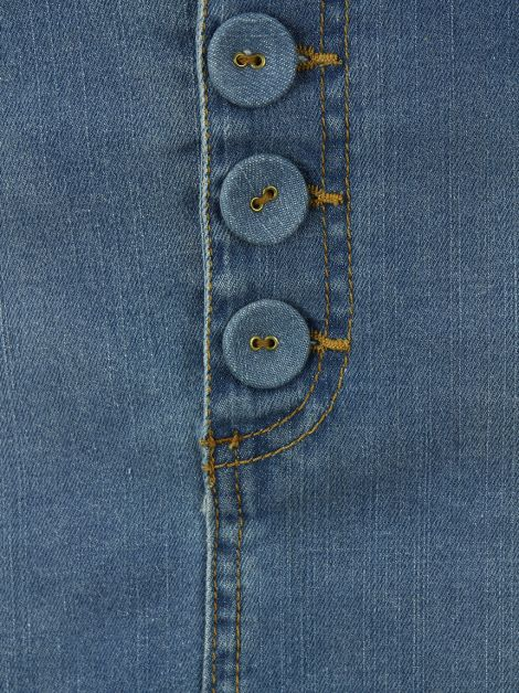 Saia Mixed Curta Jeans