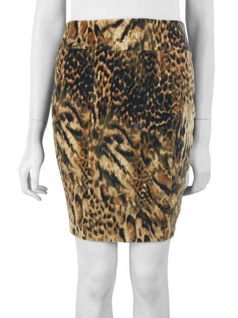 Saia Mixed Veludo Animal Print