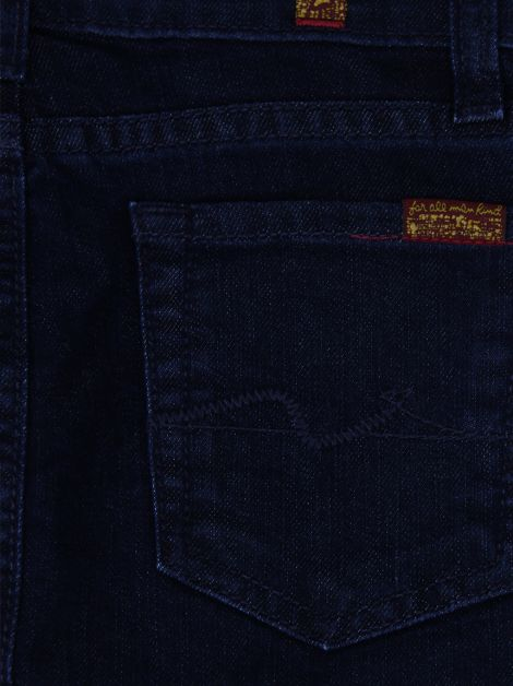 Saia Seven For All Mankind Jeans Azul