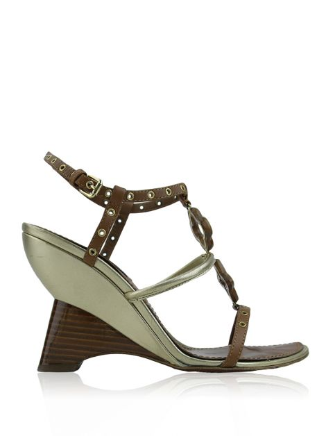 Sandalia Louis Vuitton Andalucia Wood Wedge