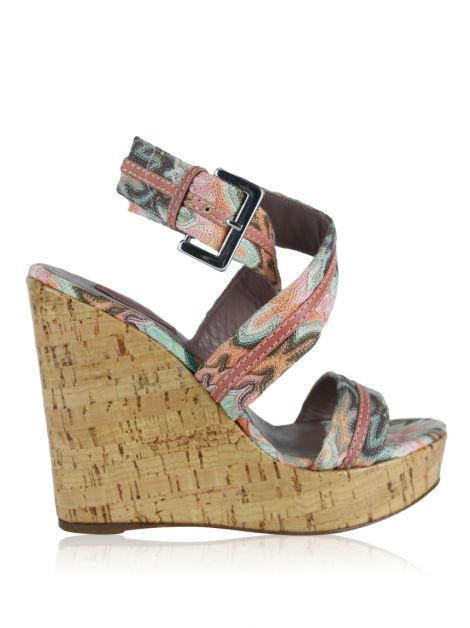 Sandália Missoni Crochê Multicolor