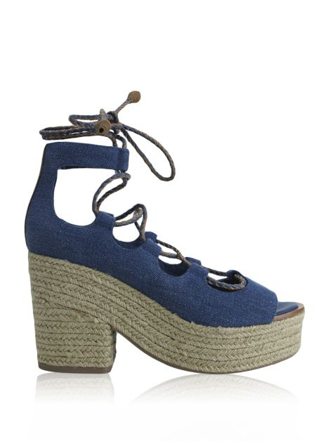 Sandália Tory Burch Positano Lace Up Azul