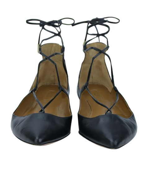 Sapatilha Aquazzura Christy Preto
