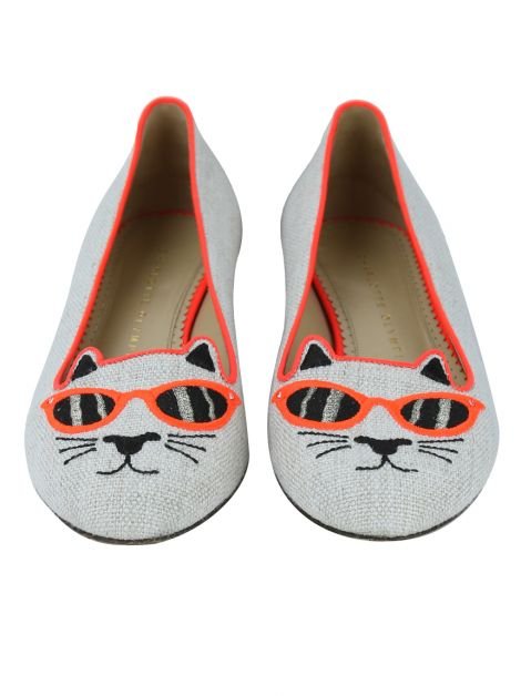 Sapatilha Charlotte Olympia Kitty Neon